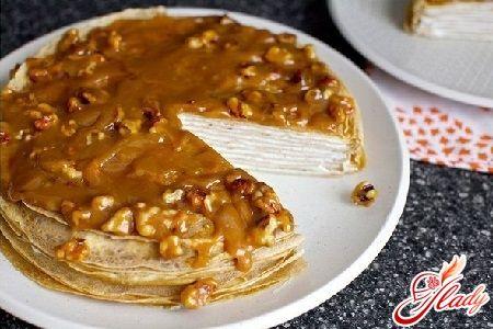 Блинный торт со сгущенкой рецепт