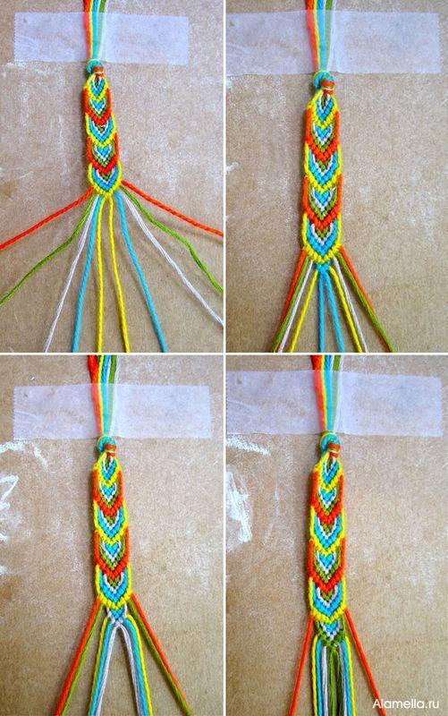 Как сделать простые браслеты из ниток своими руками