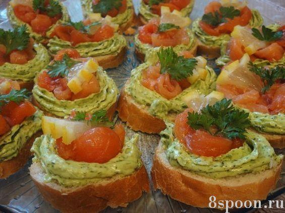 Закуски бутерброды праздничному столуы с фото