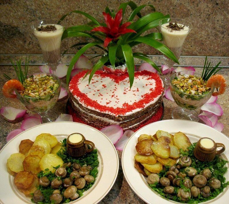 Праздничный ужин на двоих рецепты