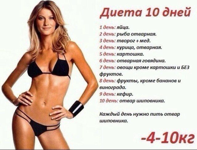 Диета 10 кг за 10 дней