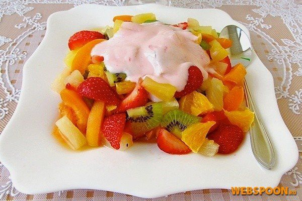 Фруктовый салат с йогуртом рецепт