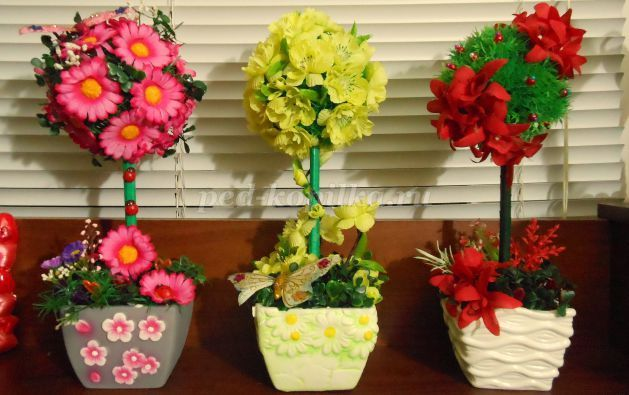 Как своими руками сделать искусственные цветы 109