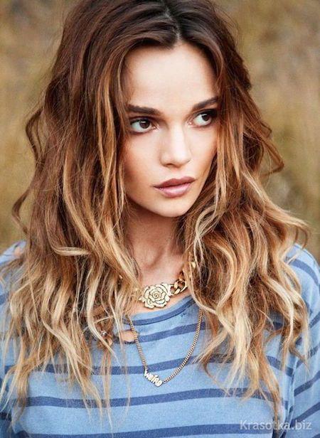 Эффект выгоревших волос