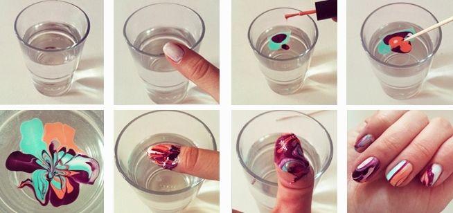 Как делать водный маникюр