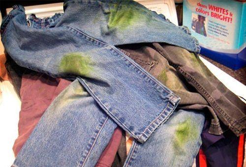Как отстирать траву с джинс