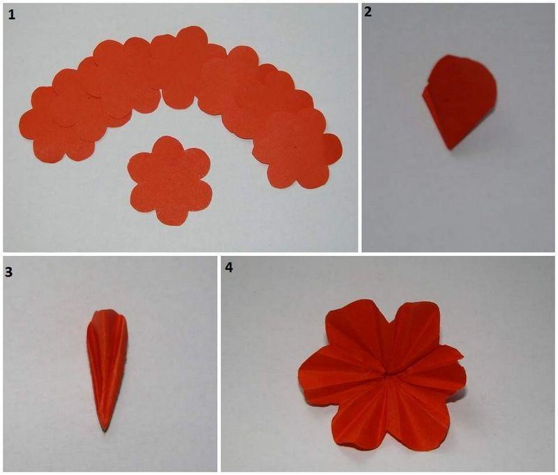 Как сделать гвоздику из бумаги