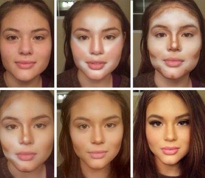 Как на уменьшить лицо