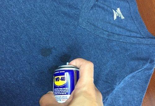 Как вывести пятно от машинного масла
