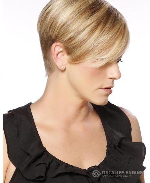 Очень короткая женская стрижка на тонких волосах