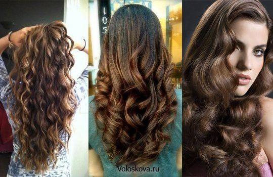 Красивые локоны на длинные волосы