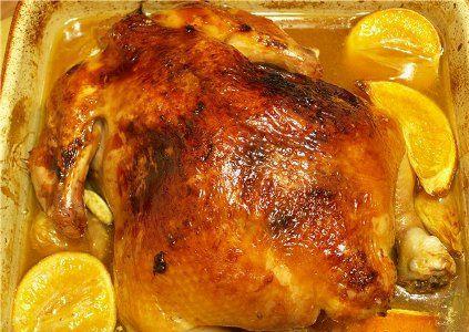 Курица с апельсинами в духовке