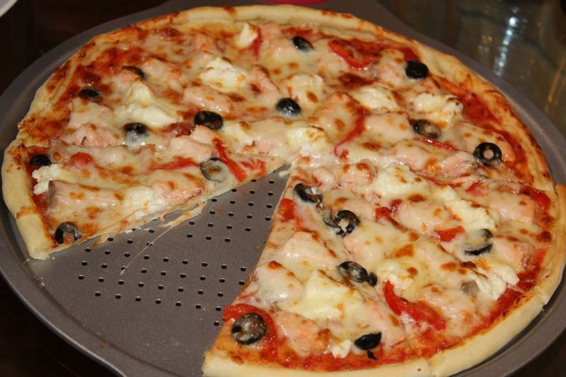 Пицца тонкая рецепт