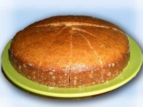 Пирог манник на кефире