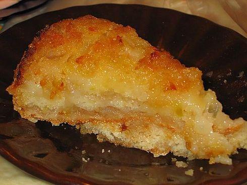 Пирог с яблоками постный