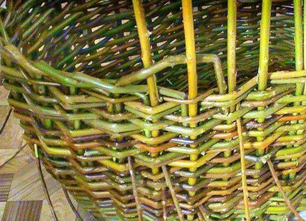 Плетение корзин из лозы для начинающих