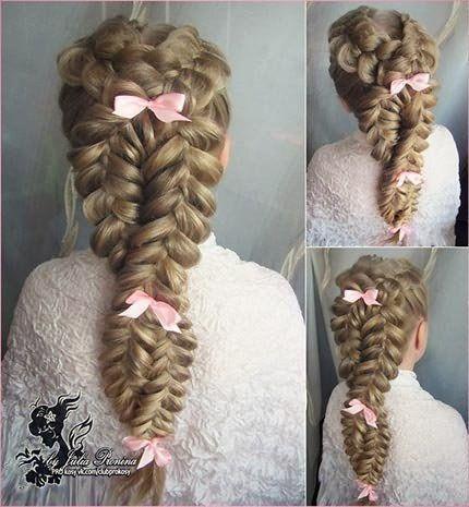Плетение кос на длинные волосы