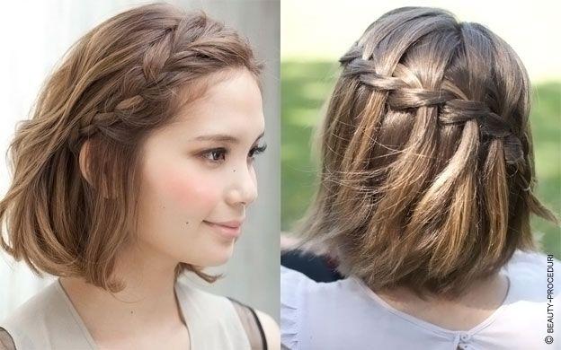 Прически на волосы до плеч