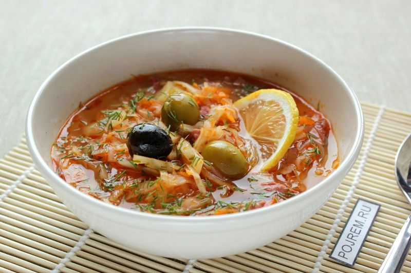 Рецепт приготовления солянки с колбасой