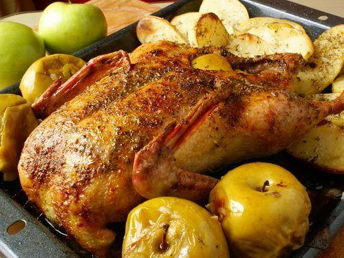 Рецепт утка с яблоками