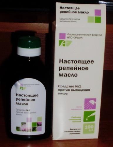 Репейное масло от выпадения волос