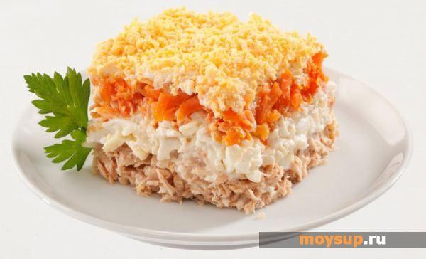 салат мимоза с рыбными консервами рецепт с фото
