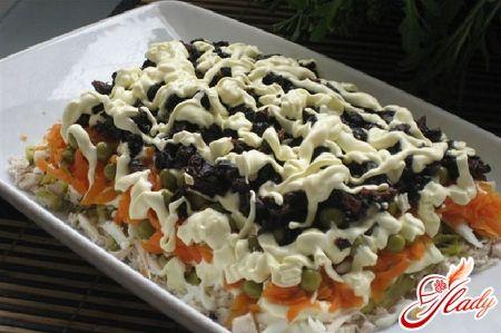 Салат с очищеным кальмаром рецепты с фото