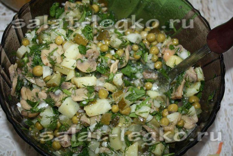 Салаты с растительным маслом