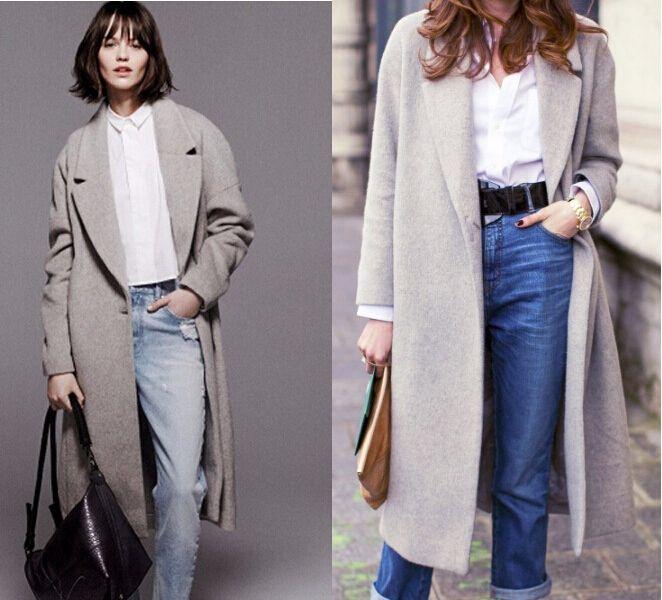 Шерстяное пальто женское