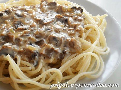 Соус для спагетти с грибами