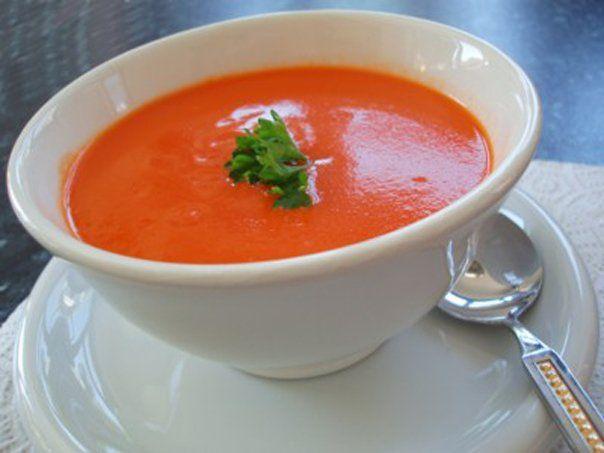 Суп пюре томатный
