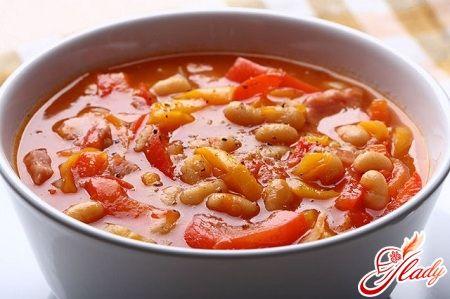 Суп с фасолью консервированной