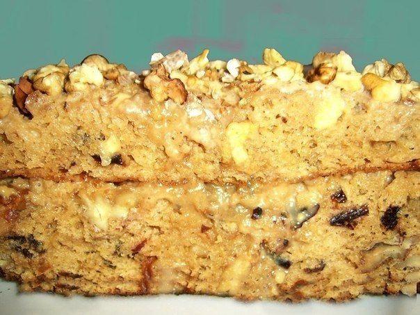 Торт с орехами и сгущенкой