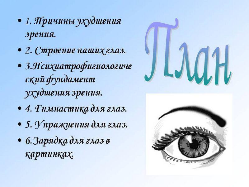 Ухудшение зрения причины