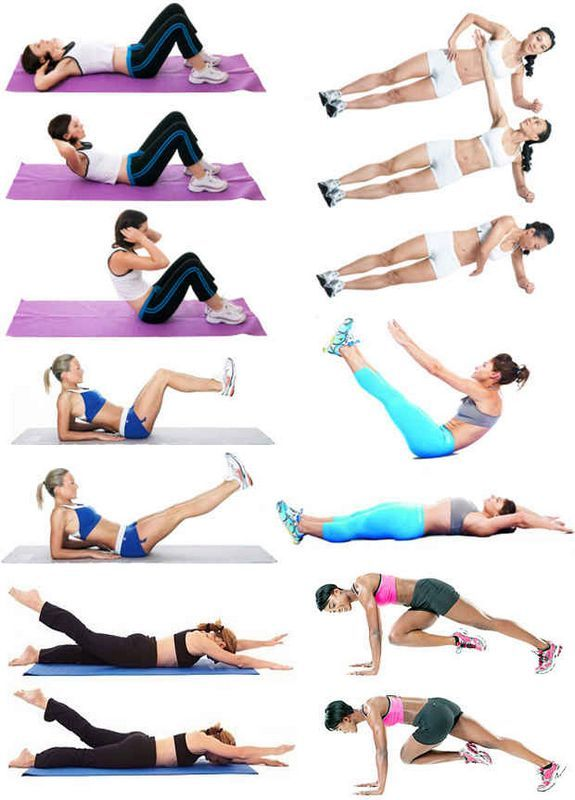 Упражнения для пресса и спины! Как быстро похудеть. Как быстро убрать живот.