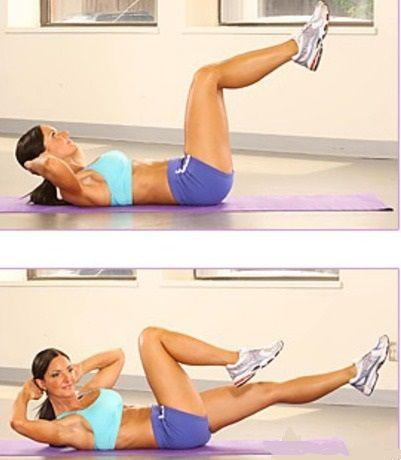 Упражнения для сжигания жира на животе