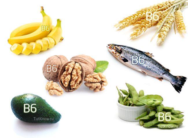 Витамин в6 в каких продуктах содержится