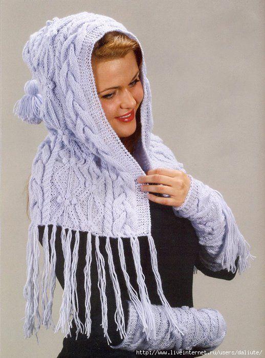 Вязание капора спицами