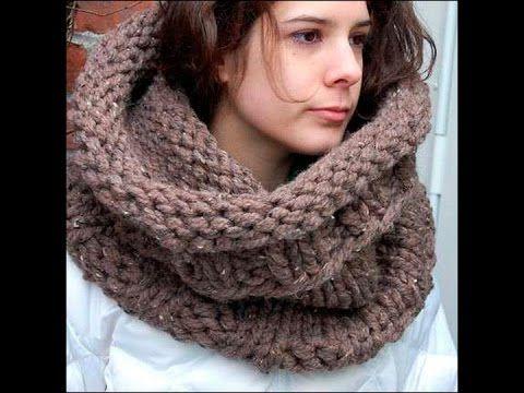 Вязание шарфа хомута спицами