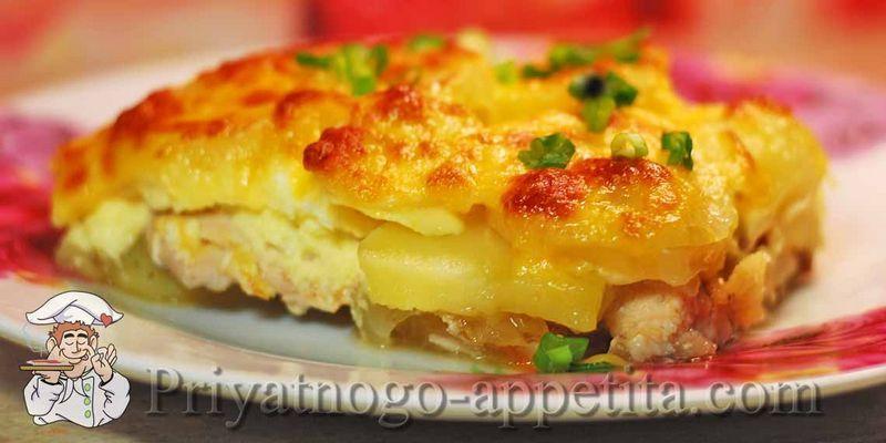 Запеканка картофельная с курицей