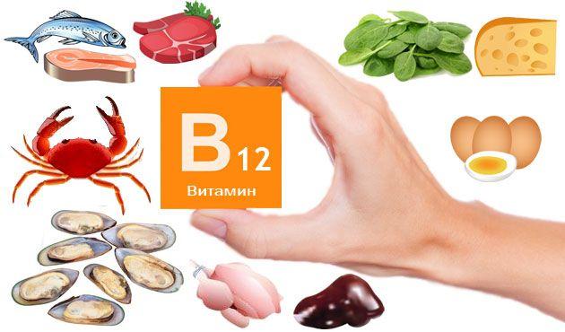 Б12 в каких продуктах