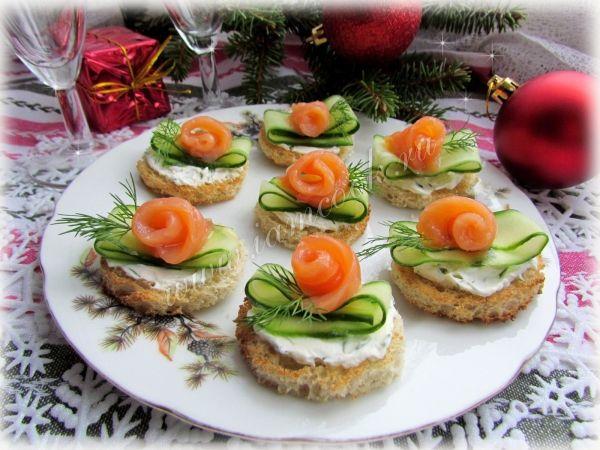 Бутерброды с красной рыбой рецепты с фото