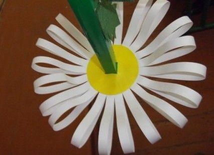 Как сделать ромашку из бумаги