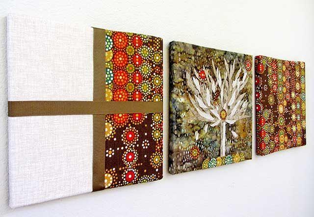 Картины из ткани своими руками