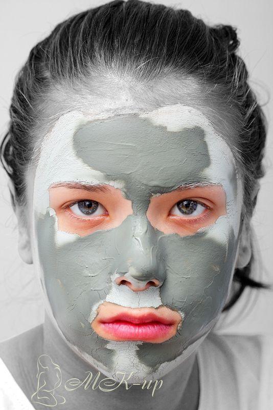 Маска из голубой глины для лица