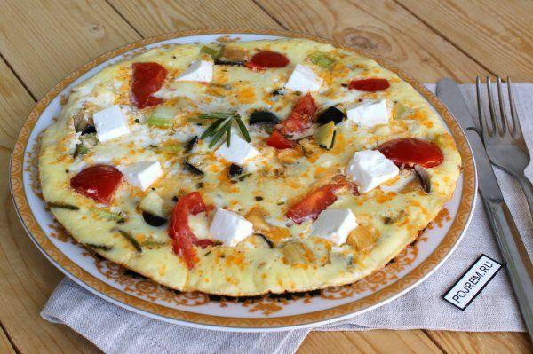 Омлет с овощами рецепт