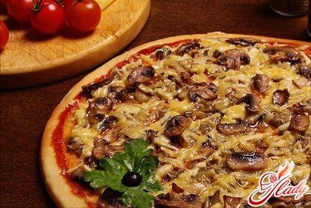 Пицца с шампиньонами рецепт