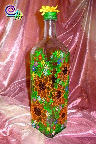 Роспись по стеклу акриловыми красками