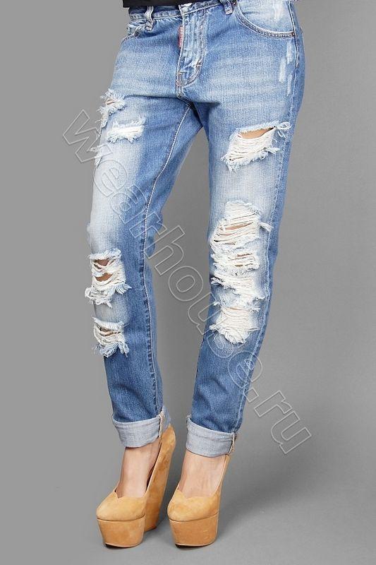 Рваные джинсы женские