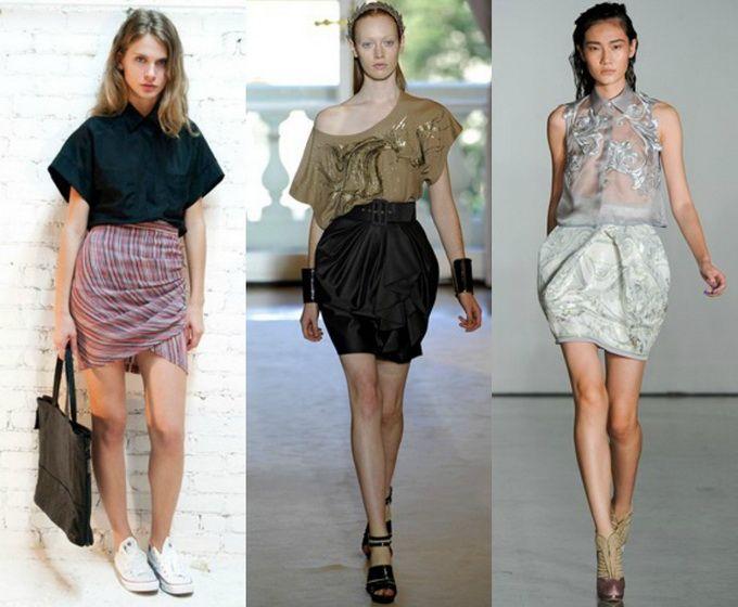 С чем носить юбку тюльпан